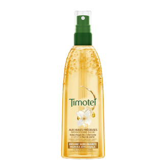 Avant de l'emballage styling Timotei Precious Oils Aquaspray 150ml