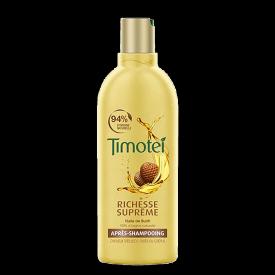 Avant de l'emballage du shampooing Richesse Suprême Timotei 300ml