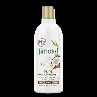 Front of pack Timotei Pure Nourished and Light Odżywka do włosów normalnych i suchych 300ml