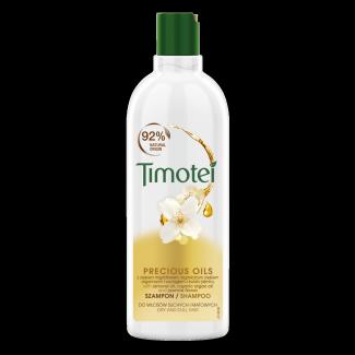 Front of pack Timotei Precious Oils Szampon do włosów suchych i matowych 400ml