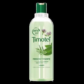 Front of shampoo pack Timotei Fresco & Fuerte Champú 400ml